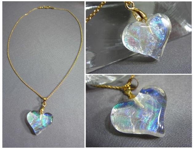 琉璃項鍊or耳環(3x3cm) 1