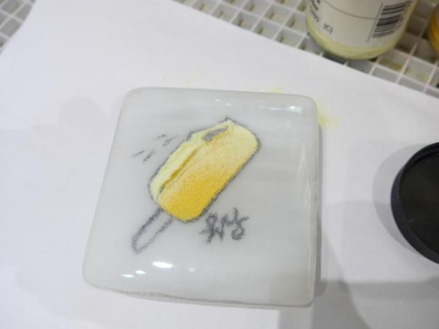 釉筆琉璃作畫 (10x10cm) 5