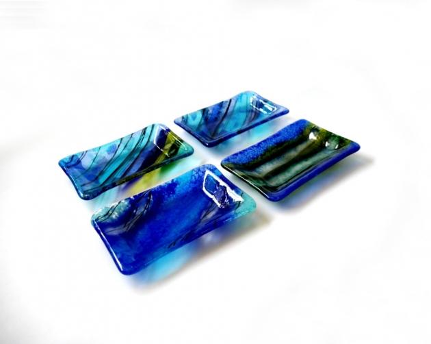 寧靜藍系列 C_琉璃小長盤 3