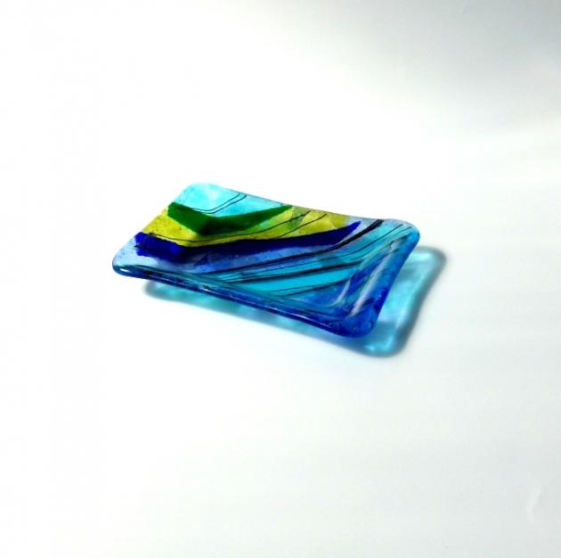 寧靜藍系列 B_琉璃小長盤 2