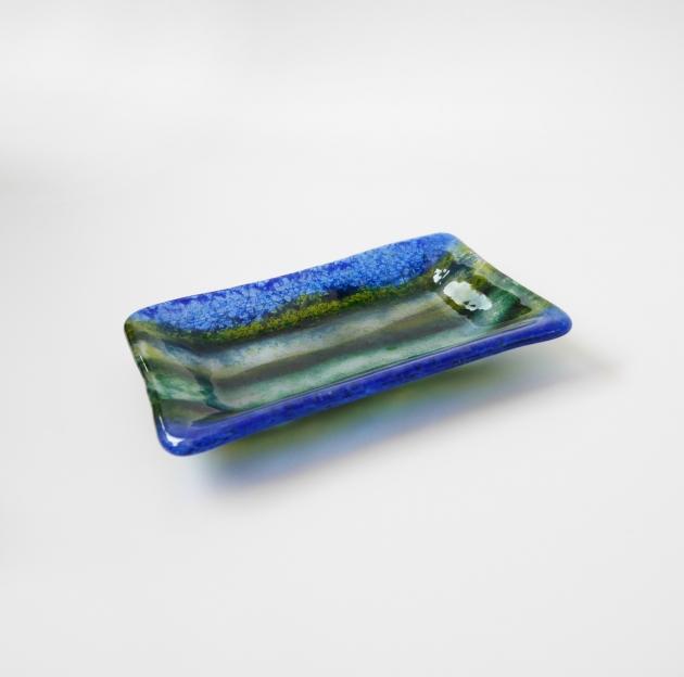 寧靜藍系列 C_琉璃小長盤 1