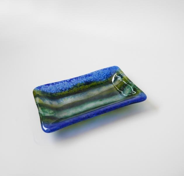 寧靜藍系列 C_琉璃小長盤 2