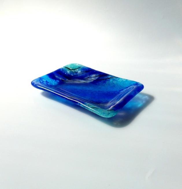寧靜藍系列 D_琉璃小長盤 1