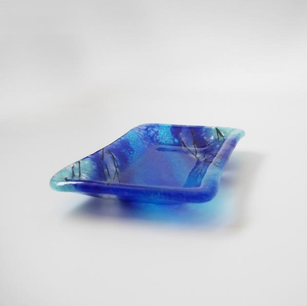 寧靜藍系列 D_琉璃小長盤 2